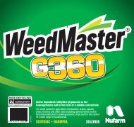 WeedMaster G360 20L Label - Nufarm
