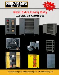 Our New and Improve Durham Catalog - Durham Manufacturing