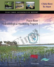 Peace River Hydrobiological Monitoring Program Year Three Report ...