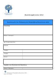 Förderpreis Bewerbungsformular 2012 - Bürgerstiftung Bremerhaven