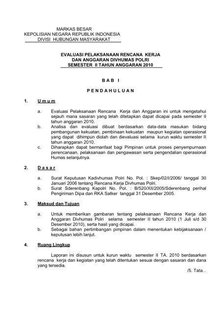 Evaluasi Pelaksanaan Rencana Kerja Dan Anggaran Ppid Polri