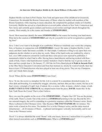 Dr. David Wilborn Interview - STORMWORLD