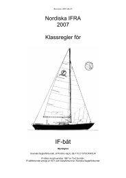 Klassregler 2007 (Text, PDF-format) - Svenska IF-båtförbundet