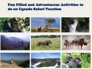 do on Uganda Safari Vacation