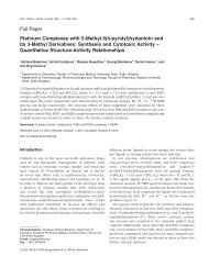 Platinum Complexes with 5Methyl5(4pyridyl ... - ResearchGate
