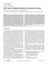 MHC Class II Binding Prediction by Molecular ... - Ddg-pharmfac.net