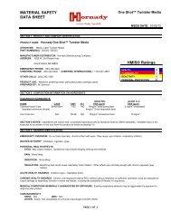 NTX Ammo MSDS - Hornady