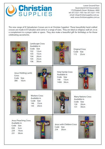 These beautifully hand crafted crosses are made in El Sal - Christian ...