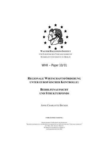 WHI – Paper 10/01 - WHI-Berlin
