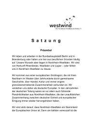 Neue Satzung, geänderte Passagen fett ... - Westwind e.V.