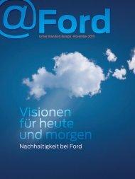 Visionen für heute und morgen - Ford