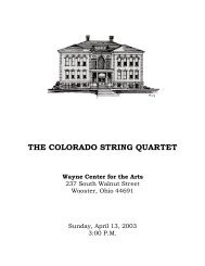 colorado - large - Wooster Chamber Music Series