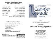 Emerson String Quartet - Wooster Chamber Music Series