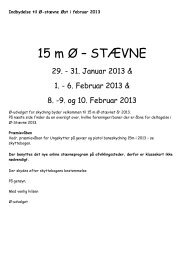 Indbydelse 2013 - Ø-stævne