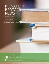 10th Issue of the Biosafety Protocol News is now available entitled
