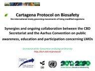 Cartagena Protocol on Biosafety - Biosafety Clearing-House