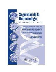 Seguridad de la Biotecnología - Convention on Biological Diversity