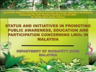 STATUS AND INITIATIVES IN PROMOTING PUBLIC AWARENESS ...