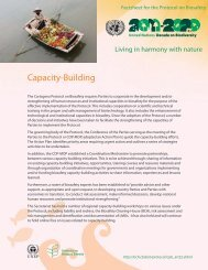Fact Sheet on Capacity-Building - Biosafety Clearing-House