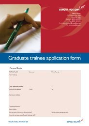 Graduate trainee application form - Cowgill Holloway