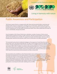 Public Awareness and Participation - Biosafety Clearing-House