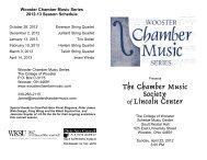 CMS Program 12 - Wooster Chamber Music Series