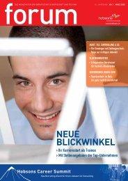 NEUE BLICKWINKEL - Hobsons.ch
