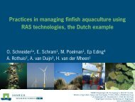 Practices in managing finfish aquaculture using RAS technologies ...