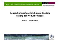 Aquakulturforschung in S-H. entlang der Produktionskette - Christian ...