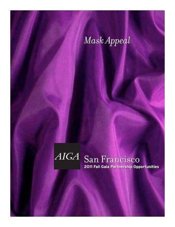 Fall Gala Sponsor Info - AIGA San Francisco