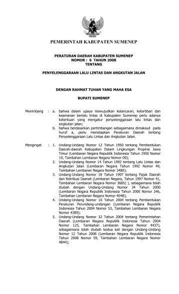 PERDA NO.06 TAHUN 2008.pdf - Sumenep