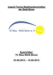 Ausschreibung Jugend Stadtmeisterschaften 2012