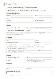 Ansökan om medlemskap i Sveriges Ingenjörer