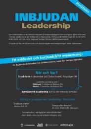 Program till Leadership i Stockholm - Sveriges ingenjörer