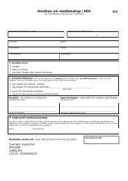 Ansökan om medlemskap i AEA - Sveriges ingenjörer