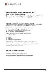 Normalstadgar för lokalavdelning - Sveriges ingenjörer