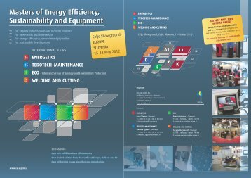 Masters of Energy Efficiency, Sustainability and ... - Celjski sejem