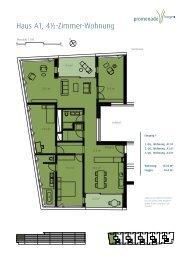 Haus A1, 4½-Zimmer-Wohnung - Promenade Horgen