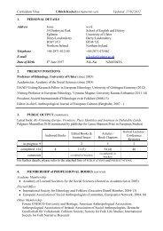 Curriculum Vitae Updated: 27/02/2012 1. PERSONAL DETAILS ...