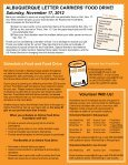 ALBUQUERQUE LETTER CARRIERS' FOOD DRIVE! - Roadrunner ... - Page 2