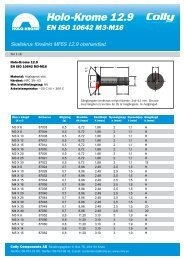 Holo-Krome M3-M16 försänkt - Colly Components