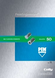 SELF-CLINCHING STANDOFFS BULLETIN - Colly Components