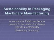 Sustainability In Packaging Machinery Manufacturing - staging.files ...