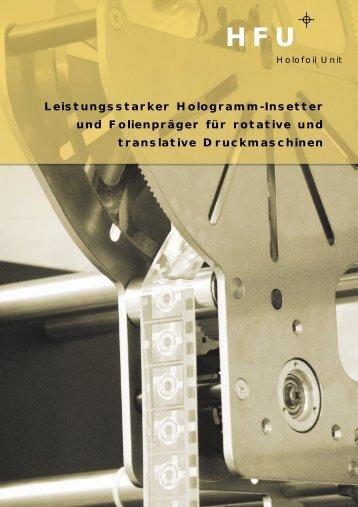 Leistungsstarker Hologramm-Insetter und ... - M-Tec Arbon AG