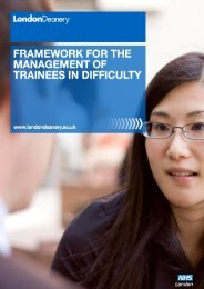 Trainees in Difficulty Management Framework - London Deanery