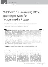 Middleware zur Realisierung offener ... - Informatik