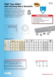 PEM® Type MSO4™ Self-clinching Micro Standoffs - Colly ...