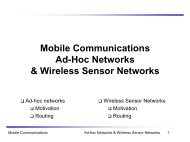 Mobile Communications Ad-Hoc Networks & Wireless Sensor ...