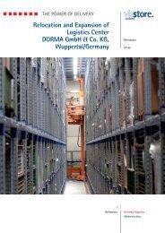 Relocation and Expansion of Logistics Center DORMA ... - viastore