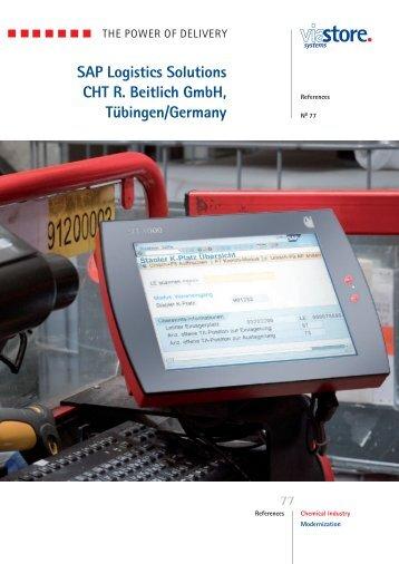SAP Logistics Solutions CHT R. Beitlich GmbH, Tübingen ... - viastore